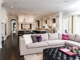 Transitional Living Room Leather Sofa by Transitional Living Rooms And Kitchen U2013 Home Design And Decor