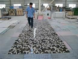 decorative floor tile medallions beige marble floor medallions