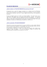 Plan De Negocios Para Empresa De Servicios On Line By ROGER IVAN
