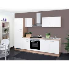 küchenblock valero weiß hochglanz sonoma eiche nachbildung 270 cm