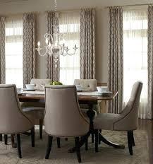 Formal Dining Room Drapes Stylish Window Treatments Regarding Ideas Prepare Curtains