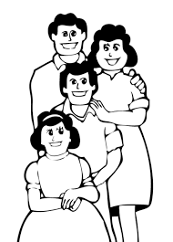 Happy Family Coloring Pages For Kids Clipart