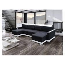 canape angle en u générique canapé d angle u convertible funto noir et blanc 295cm