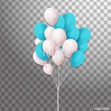 Bunches of colorful helium balloons isolated on transparent background Frosted party balloon for event design