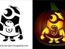 Minion Pumpkin Stencil Printable by Free Best Halloween Minion Pumpkin Stencils For Kids U003e Http Goo