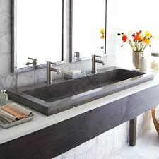 Undermount Double Faucet Trough Sink by Double Faucet Trough Sink Vanitydouble Bathroom Vanity Meetly Co