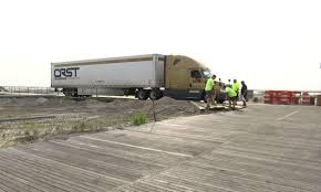 100 Crst Trucks Crews Dismantle Ventnor Boardwalk To Remove Truck After MilesLong