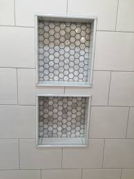 Home Depot Marble Tile by Double Niche With Bianco Polished Hexagon Mosaics Marble Tiles