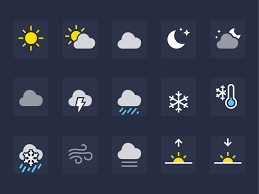 iOS Weather Icons by Rusty Mitchell Dribbble