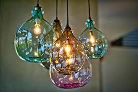 blown glass pendant lighting for kitchen kitchen lighting ideas
