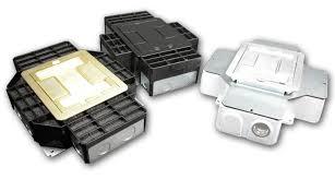 rfb4 four compartment single or multi service recessed floor box