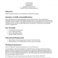 civil engineering technician resume engineering resume template