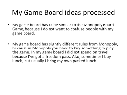 3 My Game Board Ideas