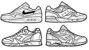 Nike More Coloring Pages Shoes