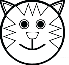 Big Smiley Face Coloring Pages Funny Faces Happy Page Free Sad Full Size