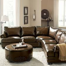 Impressive Rustic Leather Sectional Sofa Works With Stone Wall Rooms And Ski Lodges