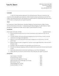 Resume Executive Summary Example Template Military And Sample