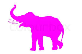 Elephant Pink silhouette Stock