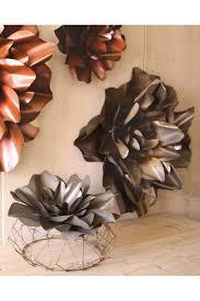 Raw Metal Flower Wall Hangings