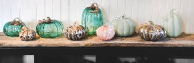 Blown Glass Pumpkins Boston by Gallery Glass Pumpkins Small Glass Pumpkin Gold U0026 Teal