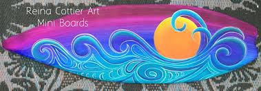 Decorative Surfboard Wall Art by Decorative Surfboard Mini U0027s U2013 Reina Cottier Art