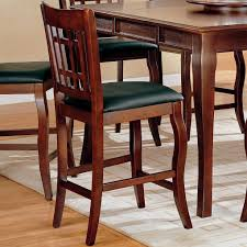 Counter Height Chairs With Backs by Newhouse Counter Height Dining Room Set With Grid Back Chairs