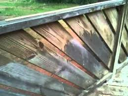 how to clean old deck in minutes youtube