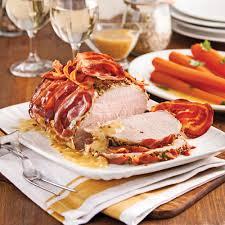 barde cuisine rôti de porc bardé à la pancetta recettes cuisine et nutrition