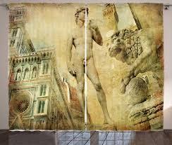 gardine schlafzimmer kräuselband vorhang mit schlaufen und haken abakuhaus italien florenz collage kaufen otto