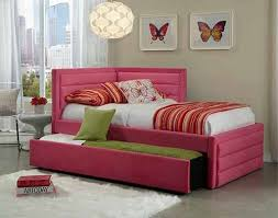 Diva Upholstered Twin Bed Pink by Detail Photo Standard