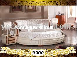 B807 Modern Round Eco Leather Bed With The Best Beds For Sale Home