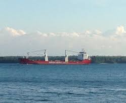 100 Mary Lake Ontario Hansa Heavy Lift Sailing East On St S River Out Of