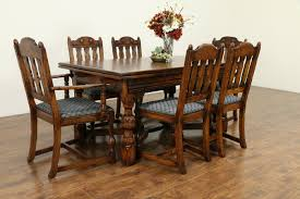 SOLD - Oak English Tudor Antique 1920 Dining Set, Table, 2 Leaves, 6 ... Sold Country French Carved Oak 1920s Ding Set Table 2 Draw 549 Jacobean Style 8 Pc Room Set Wi Jun 19 Stickley Mission Cherry Collection By Issuu Products Tagged Gustav The Millinery Works Antique Of Six 4 And Ljg A Restored Arts Crafts Bungalow Old House Journal Magazine Of Mahogany Chippendale Style Chairs C 1890 Craftsman On Fiddle Lake Vacation In Ski Amazoncom Michigan Chair Company Hall W1277 Harvey Ellis Nesting Tables Five Fan Back Windsor Bamboo Turned 6 W5000