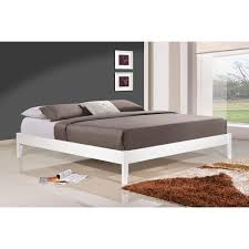 King Platform Bed With Headboard by South Shore Step One King Size Platform Bed In Pure White 3050248