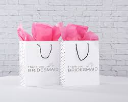 Thank You Bridesmaid Gift Bag Set Of 12
