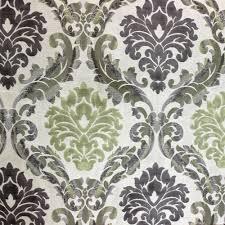 Curtain Fabric By The Yard by Green N Grey Damask Poly Jacquard Weave Fabric By The Yard Curtain
