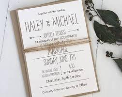 Rustic Wedding Invitation Modern Handmade Typography