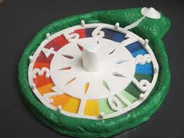 Pop Art Pottery Life Boardgame Spinner Made Of Clay With Acrylic Paints
