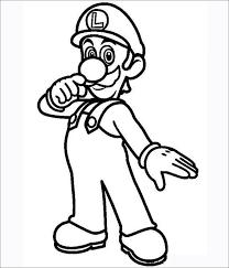 Super Mario Bros Coloring Pages Free Premium Templates