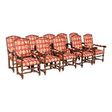 17th Century European Style Red Floral Fabric Dining Chairs - Set Of ... Capital Ding Chairs Reviews Verified Cream Wooden Room Chair With White Back And Red Fabric Annie Mos Fniture Collection Of Leather Fabric Maddox Modern Red Walnut Set 2 Upholstered Parsons 6 X Faux Leather Ding Chairs In L11 Liverpool For Poppy Retro Pine Upholstered Lovely Kemnay Weston Home Cranberry 2019 Products Blaine Tufted Wing Back Gdf Studio Bridge Of Weir Renfwshire Gumtree Mcc Linen Roll Top Scroll High