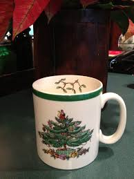 Spode Christmas Tree Mugs by Frog Hollow Farm