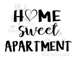 Home Sweet Apartment Instant Digital Download