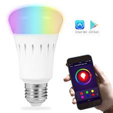 lohas wifi smart led bulb a19 led 60w equivalent smartphone
