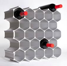 Winehive 28 Bottle Modular Wine Rack Contemporary Wine Racks