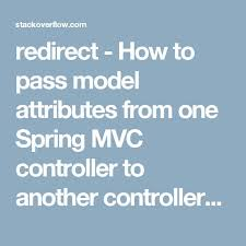 redirect how to pass model attributes from one spring mvc