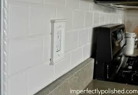 diy subway tile backsplash