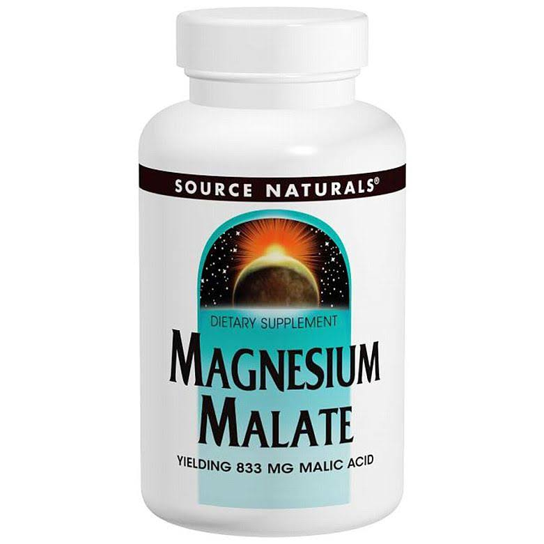 Source Naturals Magnesium Malate - 1250mg, 180 Tablets