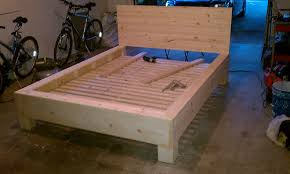 diy platform bed with floating nightstands carpentry platform