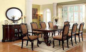 9 Piece Bellagio Formal Dining Set With Fabric Chair Cherry Wood Ding Table And Chairs Chateau De Ville Formal Room With Leatherette Rowena Cream White Fniture Suitable Add Ding Room Wall Rustic Finish Woptions Coaster Tabitha Double Pedestal Pc Set Seat In Black Style Kincaid Park Group Traditional Kitchen Fancy Elegant Cherry Wood Formal Sets Cityofchelmsrdinfo