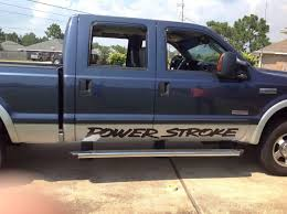 100 Truck Door Decals Product Power Stroke Pair Banner Vinyl Sticker Decal Fits
